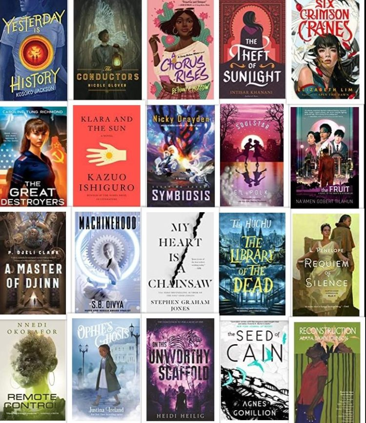 covers of 20 books by BIPOC writers